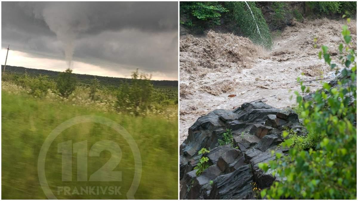 Негода на Прикарпатті – фото та відео