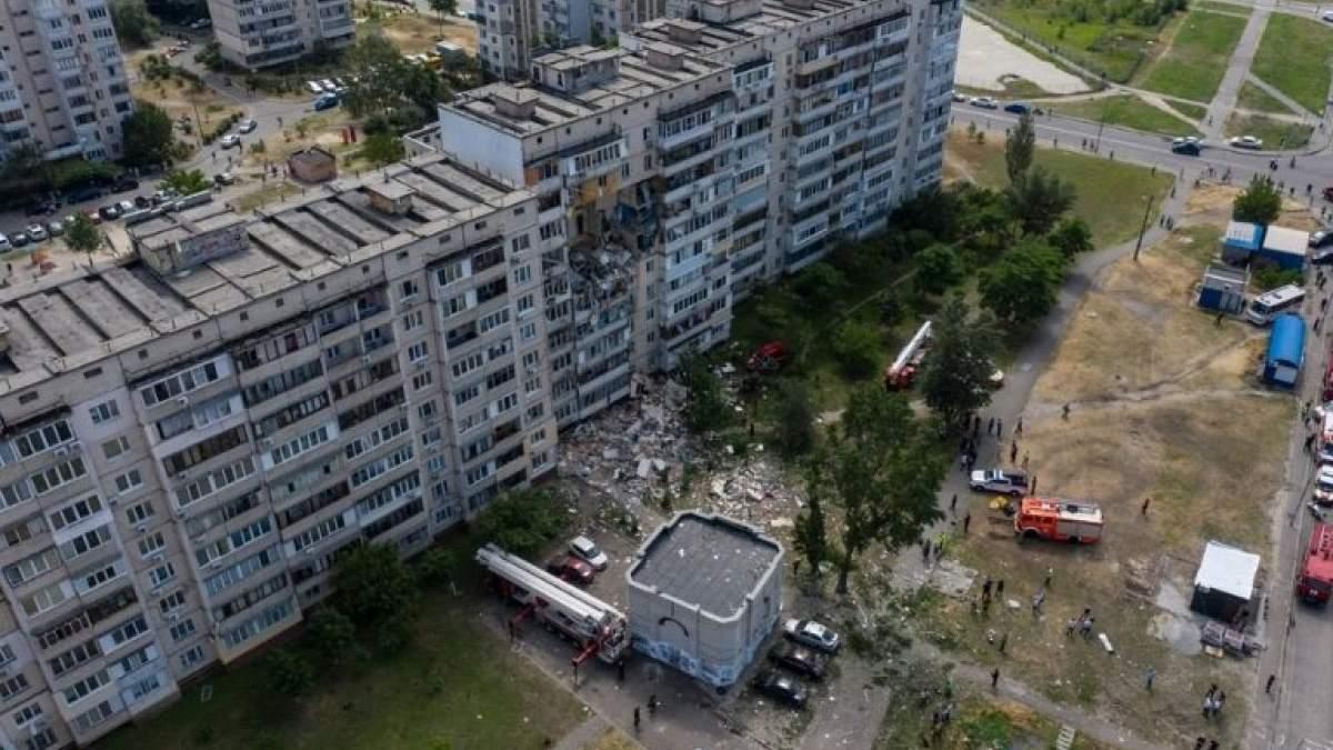 Взрыв на Позняках, Киев: видео взрыва дома на Григоренко