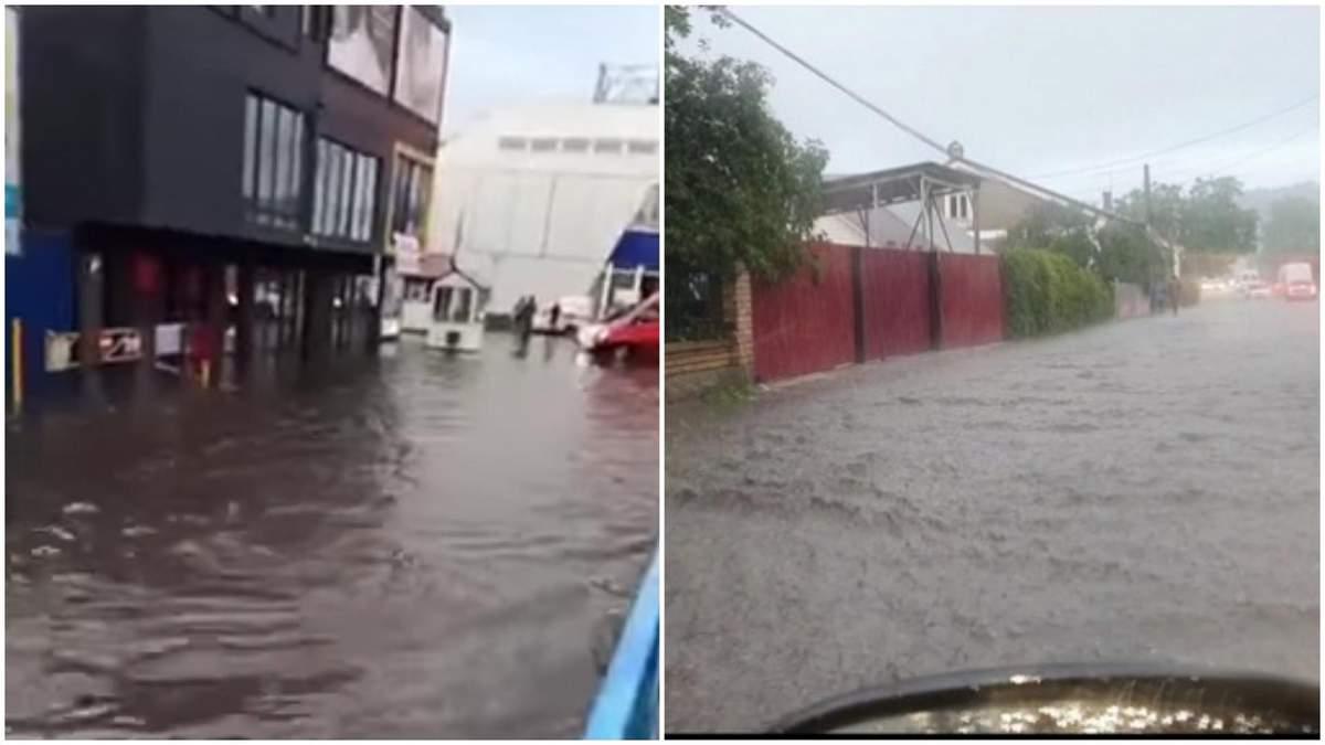Наводнение в Черновцах 24 июня 2020: видео, фото потопа