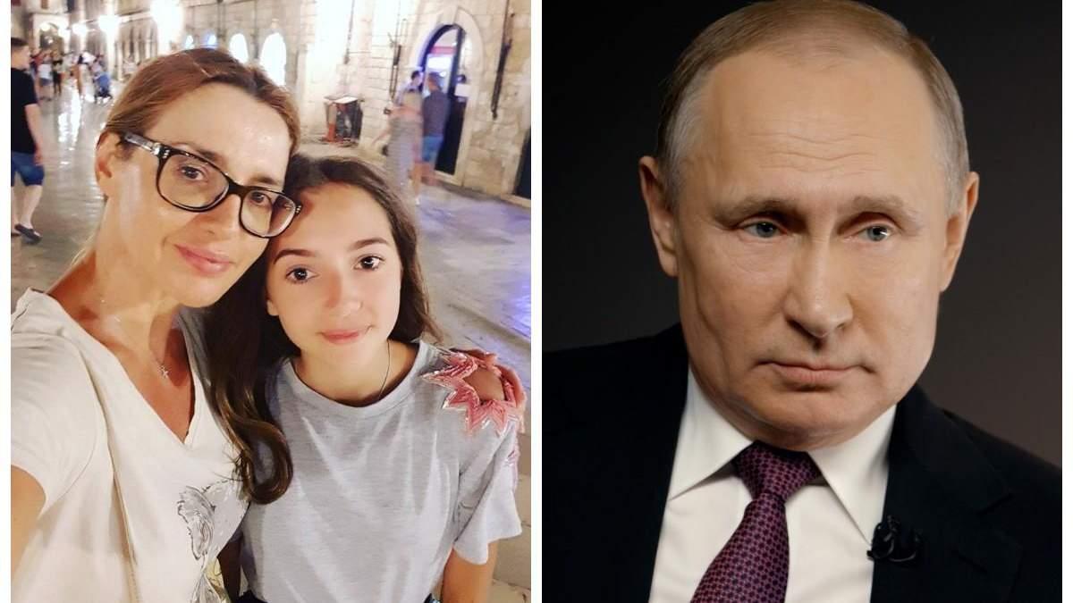 Марченко сказала, чому Путін хрестив її доньку