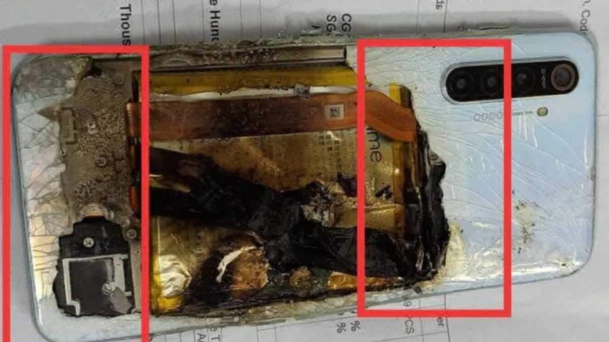 Смартфон Realme вибухнув