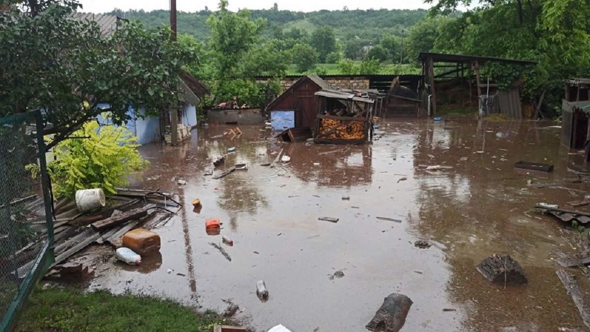 В Одесской области затопило Ананьев Первый 24 июня 2020: фото