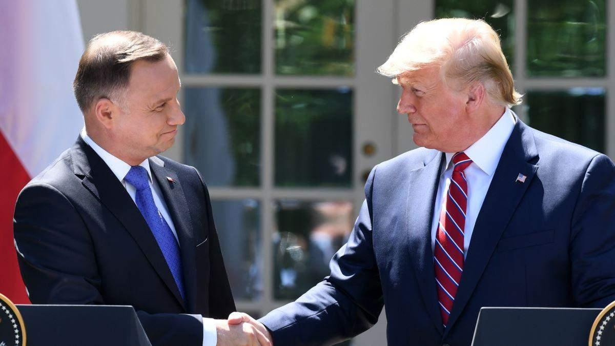Президенти Польщі та США Анджей Дуда та Дональд Трамп