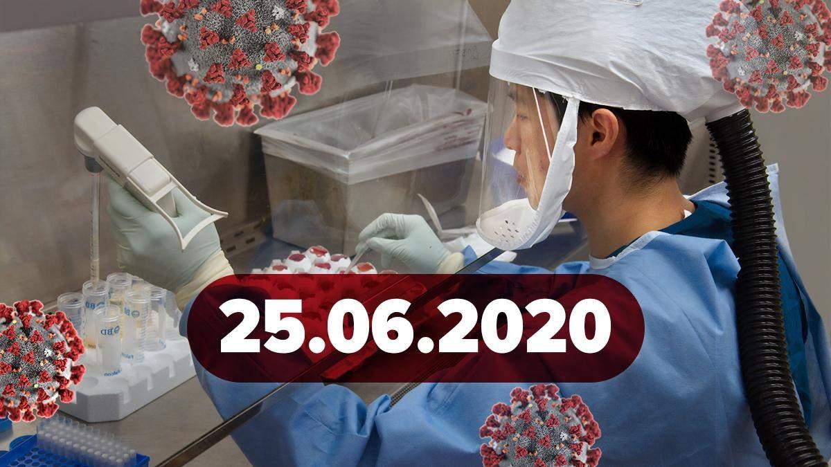 Коронавирус Украина, в мире 25 июня 2020: новости, статистика