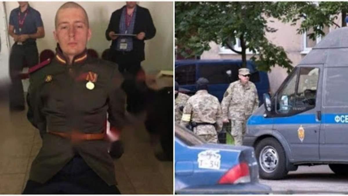 На параді Перемоги у Москві солдат напав на мікроавтобус ФСБ - відео