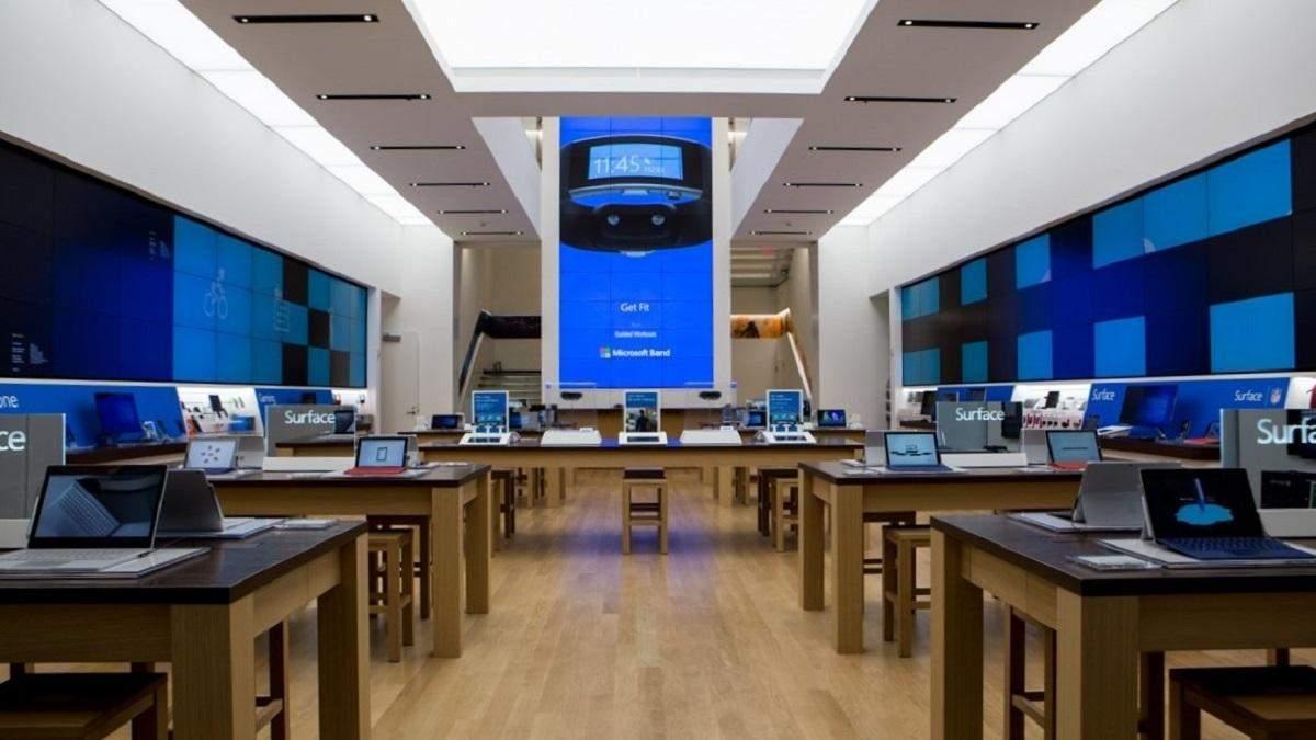 Магазины Microsoft закрываются