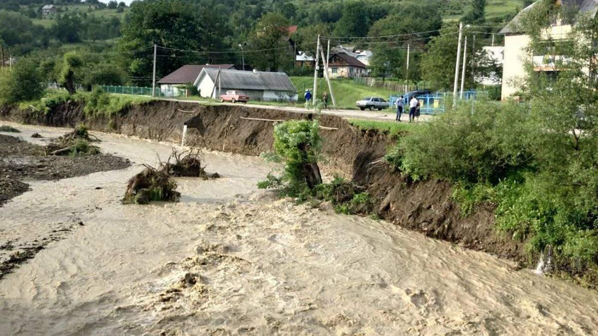 Річка Розсіч в селі Битків виходить з берегів 26 червня 2020: відео