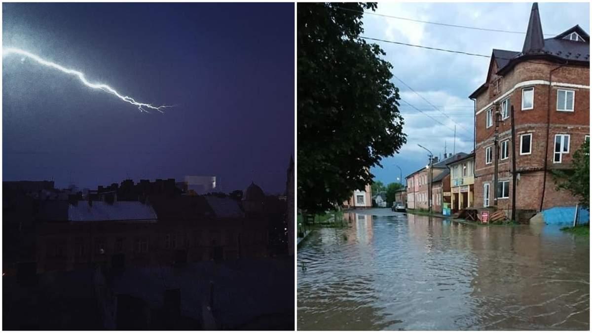 Град, потоп, гроза: негода дісталася Львівщини – фото і відео
