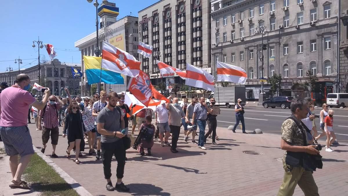 Марш солідарності з Білоруссю в Києві 28.06.2020: фото, відео