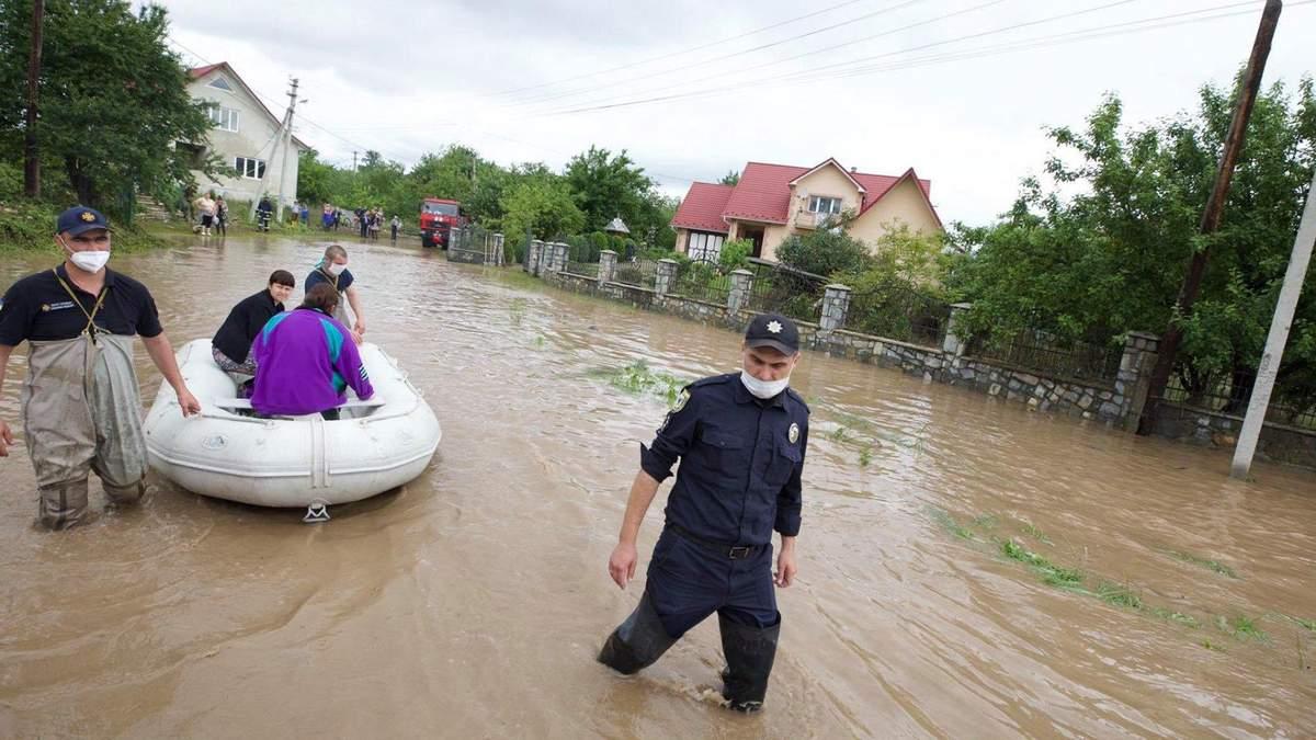 Непогода на Западной Украине