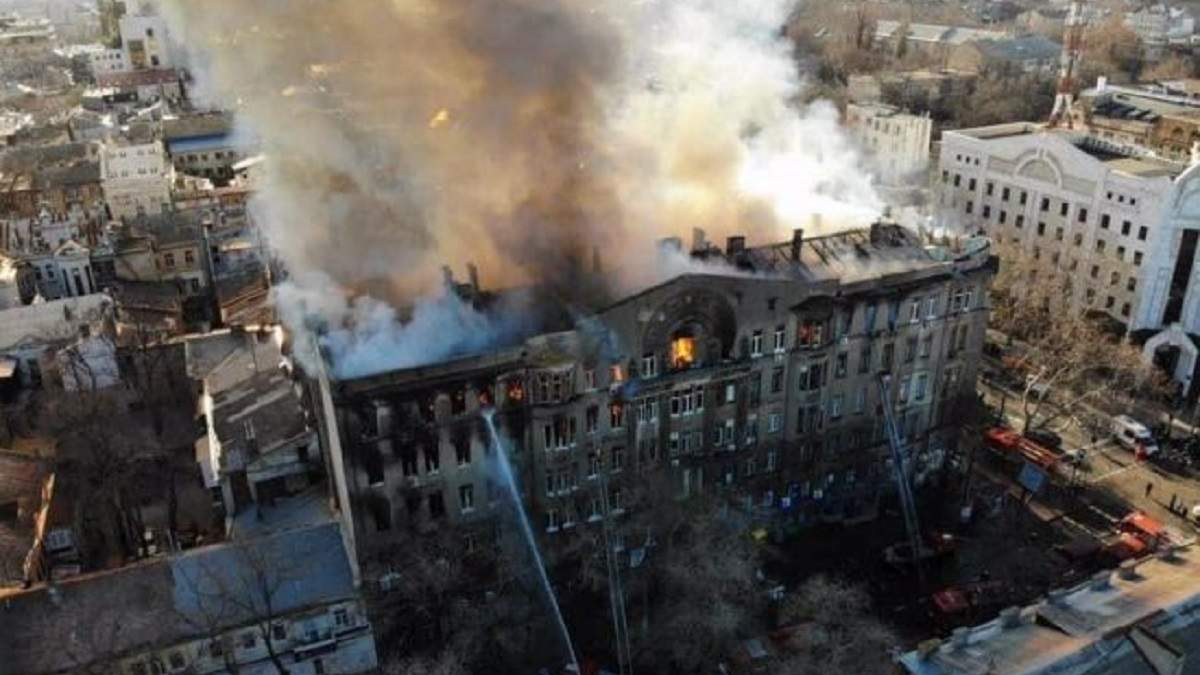 Пожар в колледже в Одессе 4.12.2019: дело передали в суд