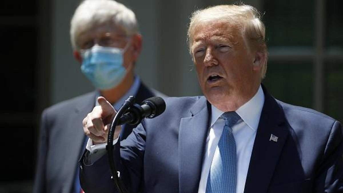 Трамп знову звинуватив Китай у поширенні коронавірусу