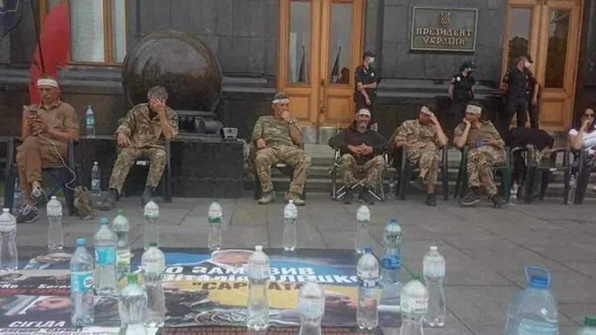 Это классическая растяжка для Зеленского, – Малюська о голодовке военных под Офисом Президента