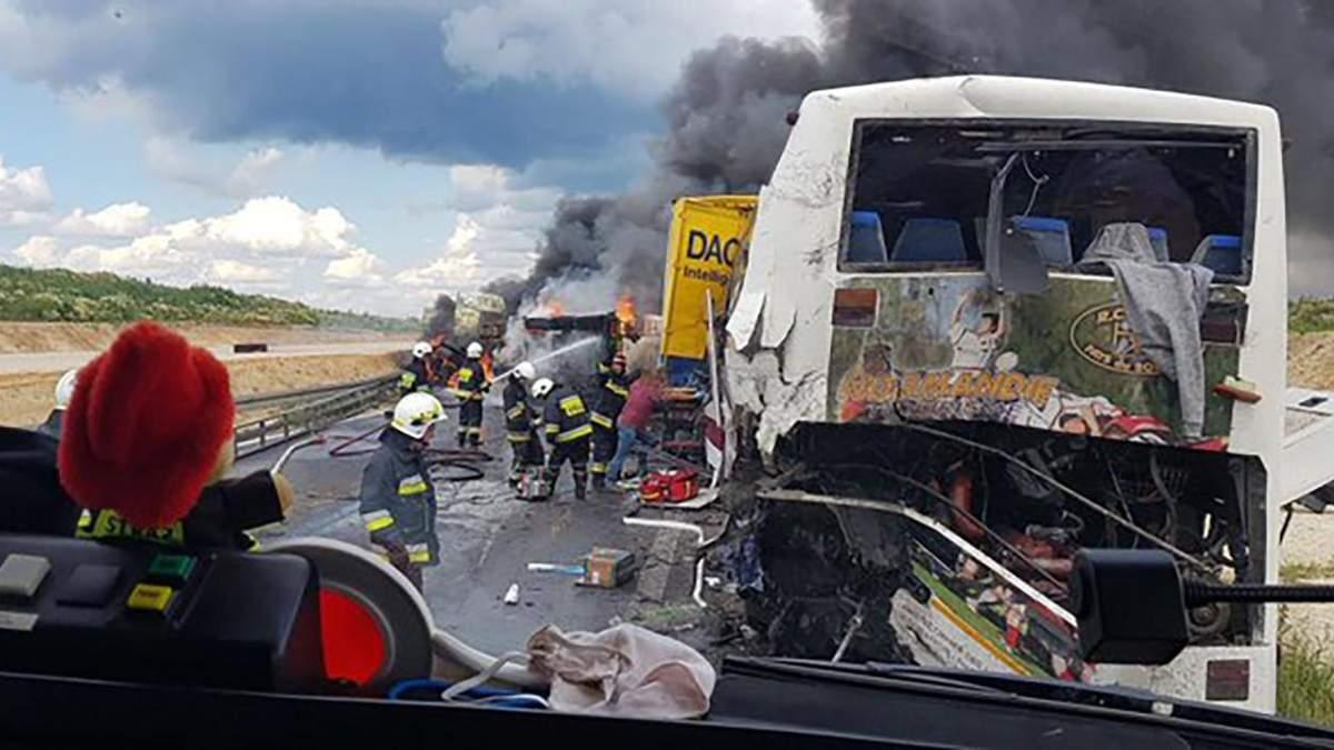 ДТП в Польщі з українським автобусом 2 липня 2020: фото, відео