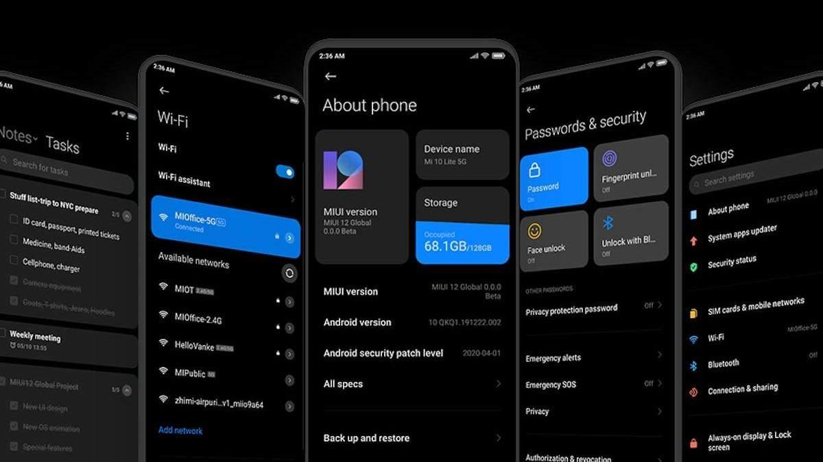 Стабильная версия MIUI 12: список смартфонов Xiaomi