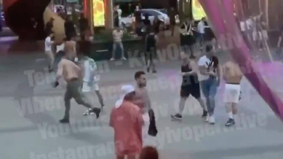 Бійка і стрілянина в Києві на Печерську 4 липня 2020 року - відео