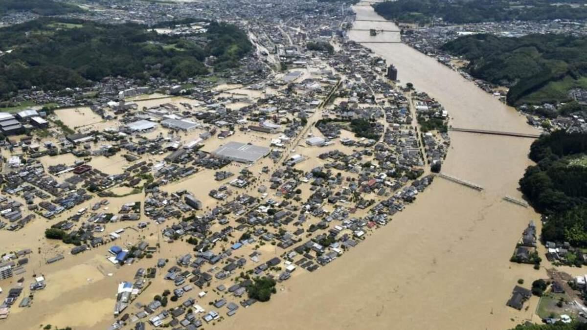Повінь в Японії: що відомо - фото, відео