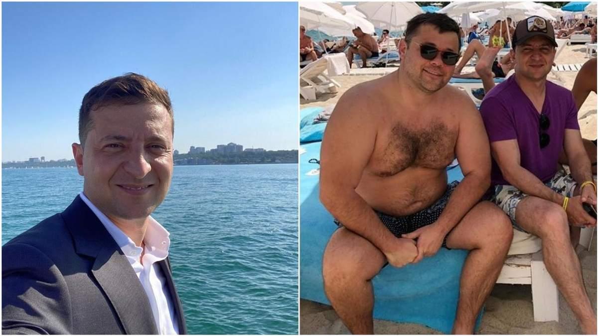 Зеленский поплавал в Одессе без Богдана