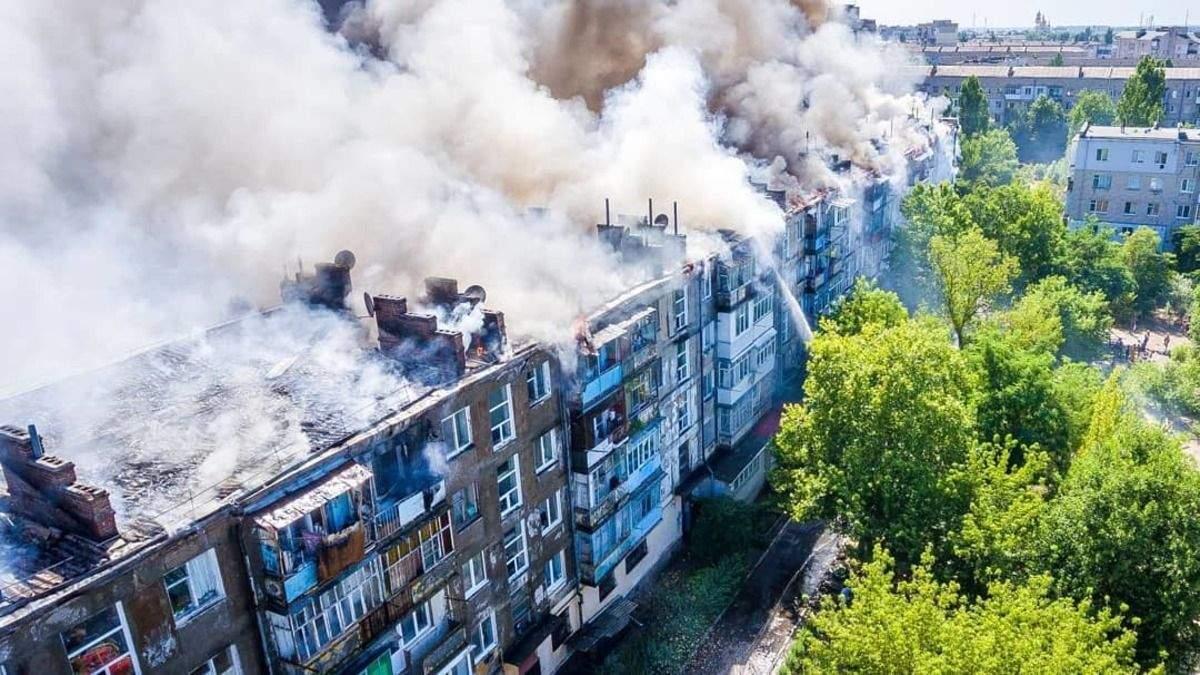 Масштабна пожежа у Новій Каховці: підпалювач пояснив причини займання