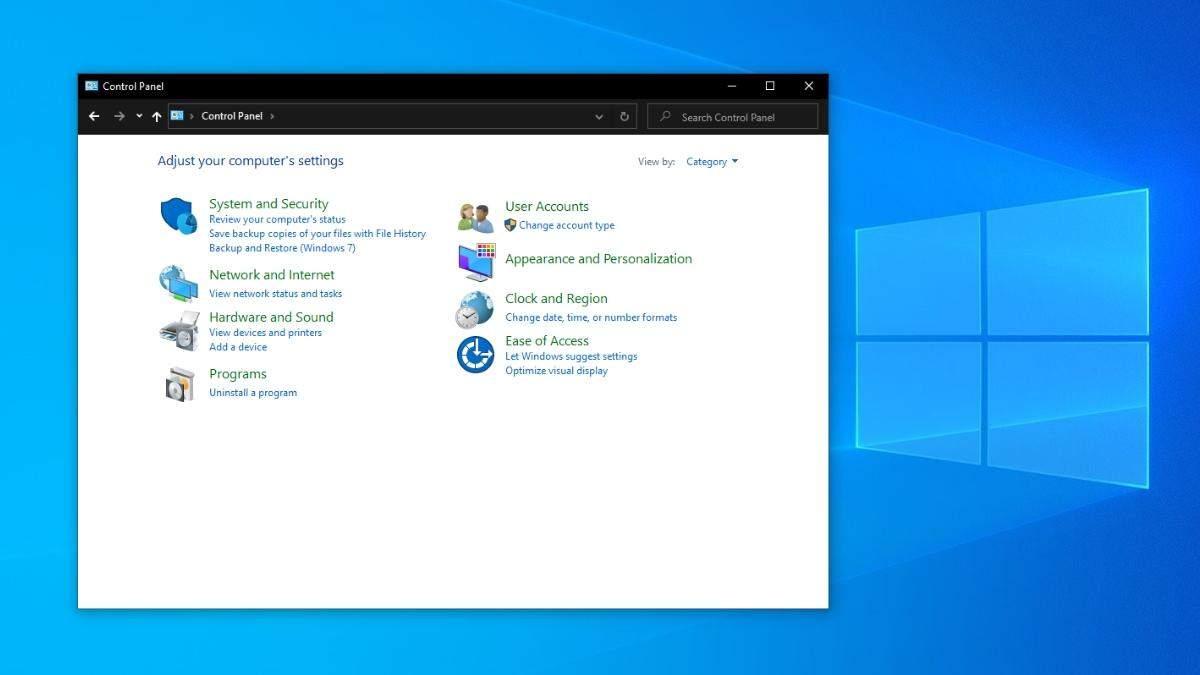 """""""Панель управління"""" може зникнути з Windows 10"""