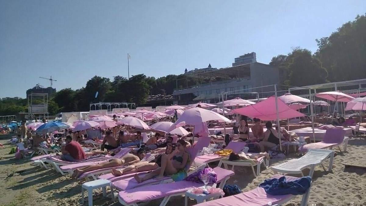 Нарушение карантина на одесских пляжах