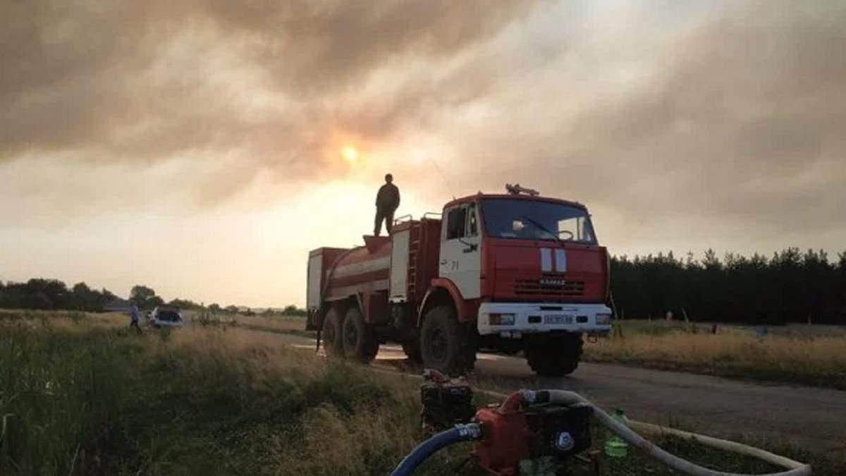 Пожежі на Луганщині 7 липня 2020: ймовірна причина займань