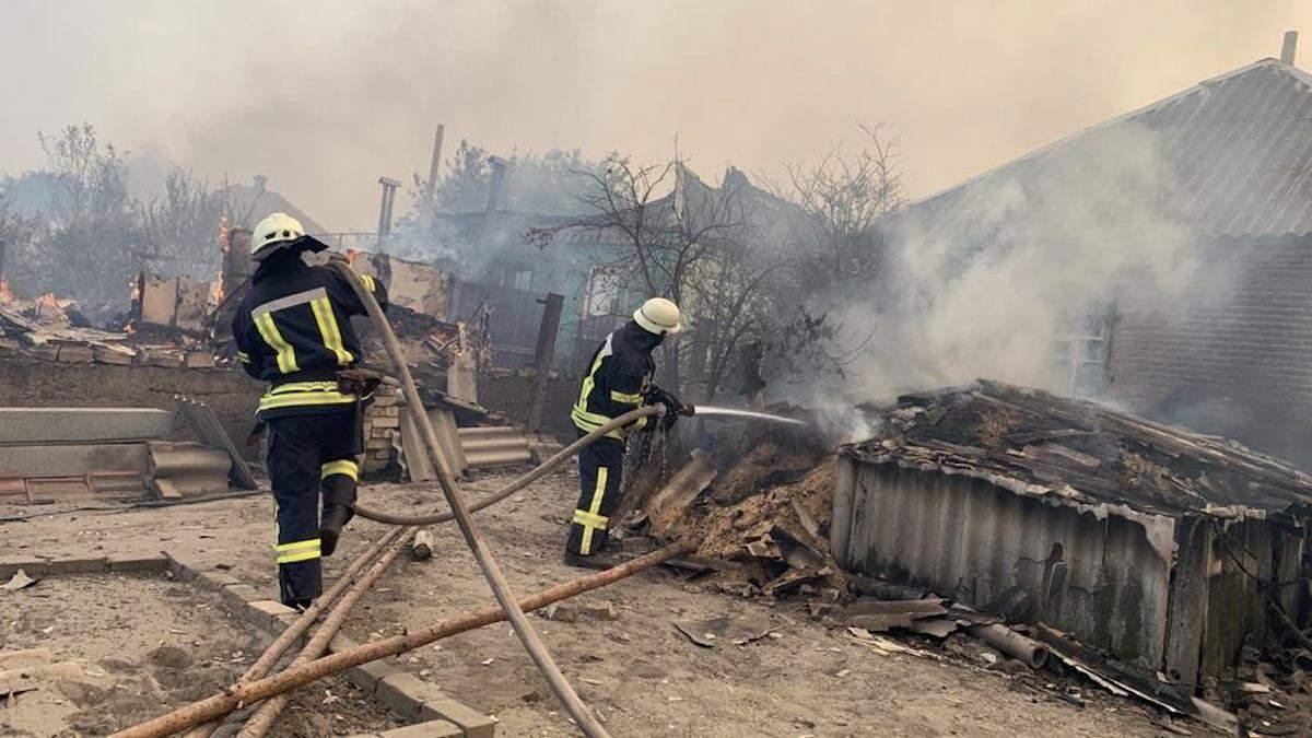 Пожежа у Луганській області липень 2020: наслідки пожежі