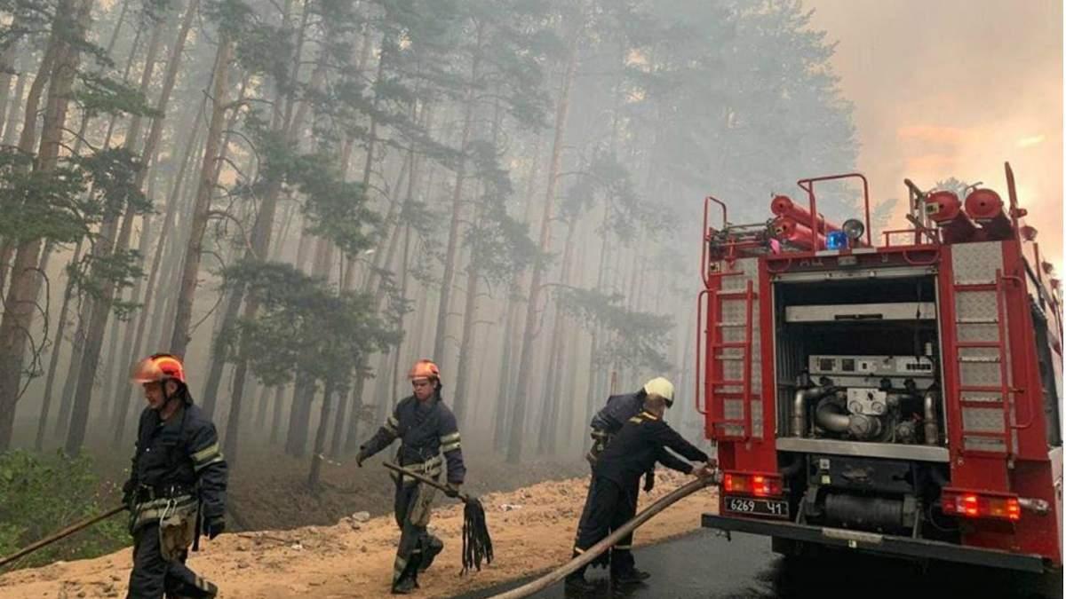 Масштабный пожар на Луганщине
