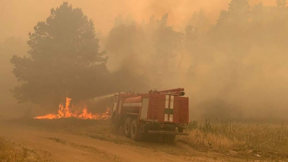 Видео очевидцев и спасателей из эпицентра пожаров на Луганщине