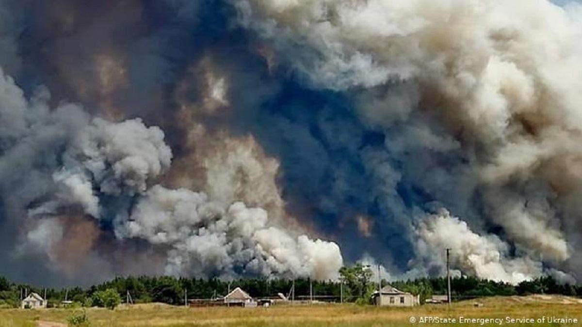 Пожар на Луганщине: это может быть поджог оккупантами, Гайдай
