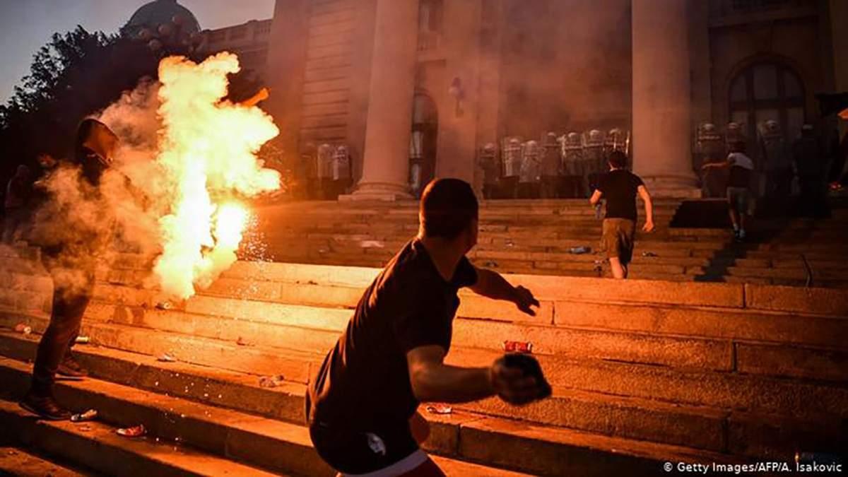 Українці на протестах в Белграді: фейк сербських ЗМІ 09.07.2020