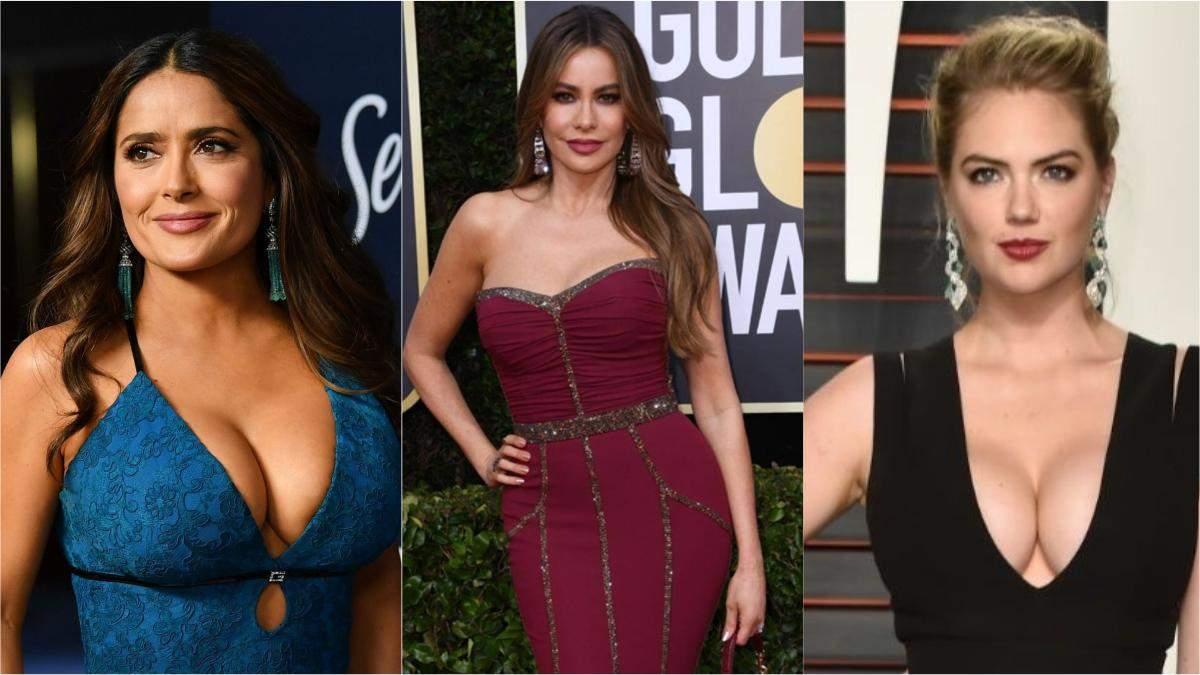 Актрисы с большим бюстом: фото, факты о звездах с пышной грудью