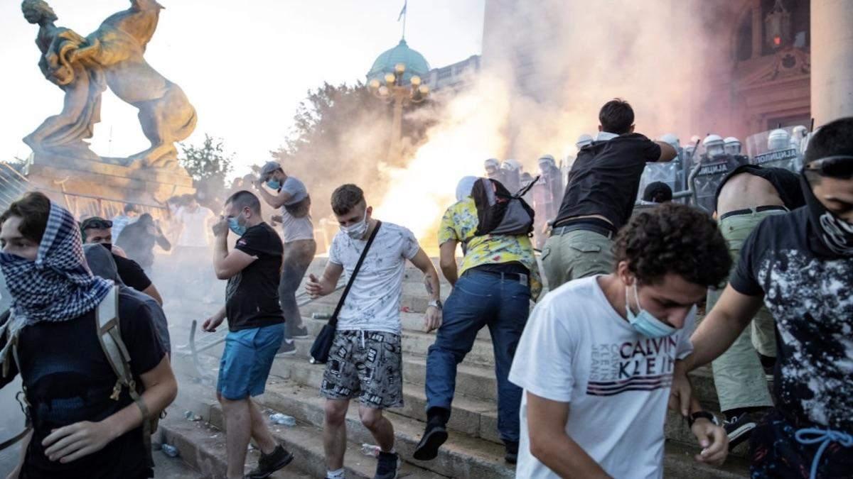 Протесты в Сербии: комендантский час не будут вводить