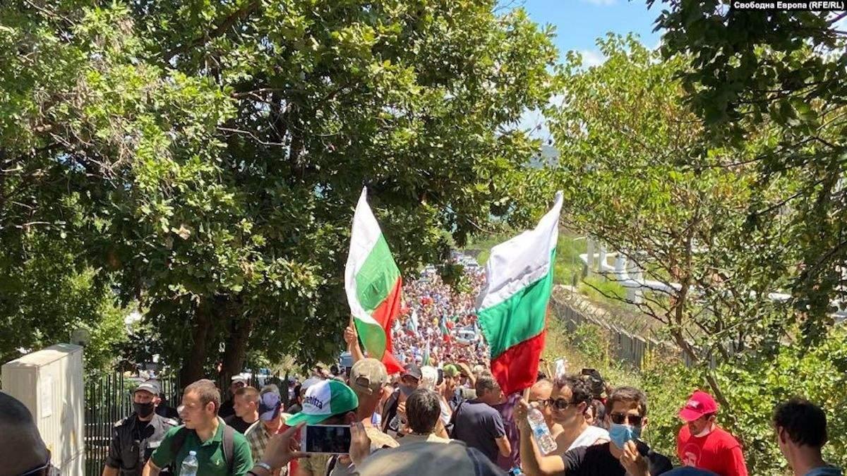 Протесты в Болгарии 11 июля 2020
