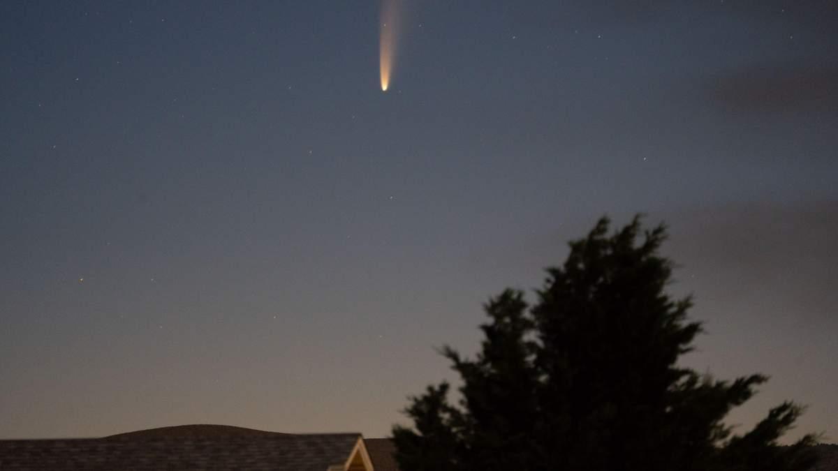 Комета Neowise пролетела над Харьковщиной: фото