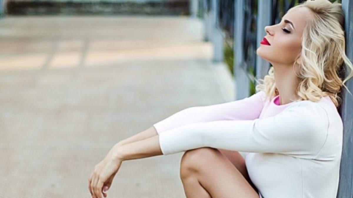 Лілія Ребрик  показала стрункі ноги на зйомках серіалу