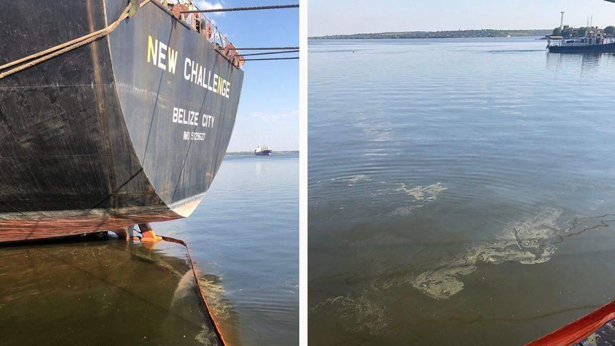 Аварія в порту Миколаєва 12.07.2020: витік рослинної олії – фото