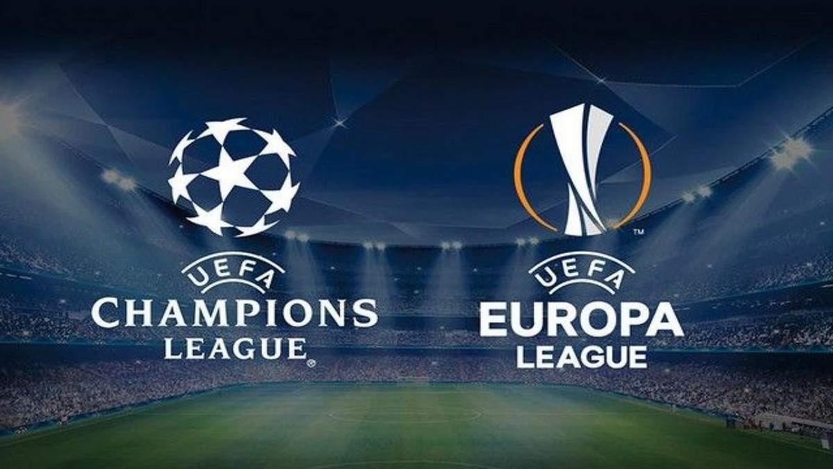 Ліга чемпіонів та Ліга Європи 2020-2021 – календар, жеребкування