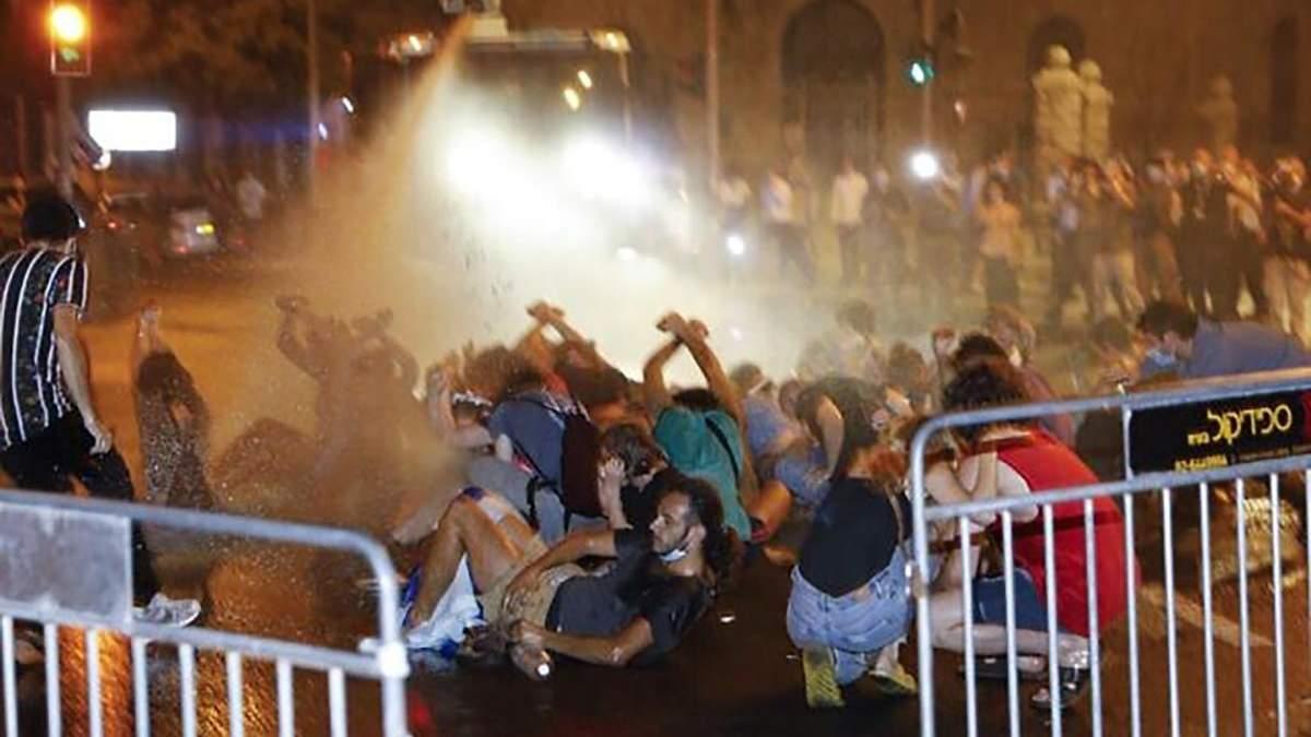 Протесты против карантина в Израиле 18 июля 2020: видео