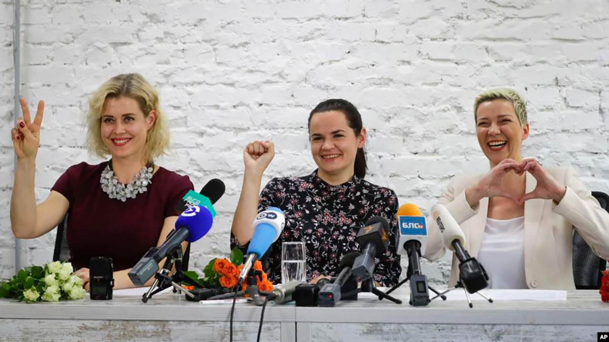 Вероніка Цепкало, Світлана Тіхановська і Марія Колесникова