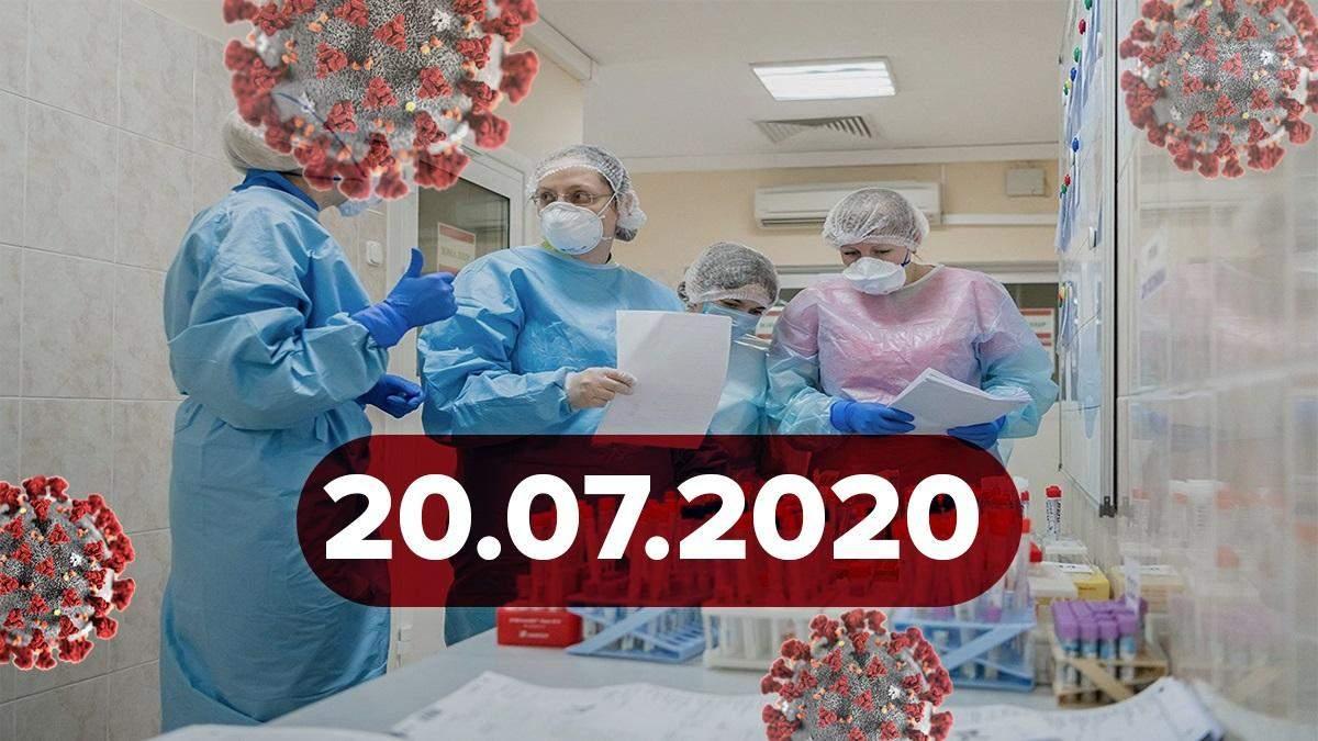 Коронавірус Україна, світ 20 липня 2020: статистика, новини