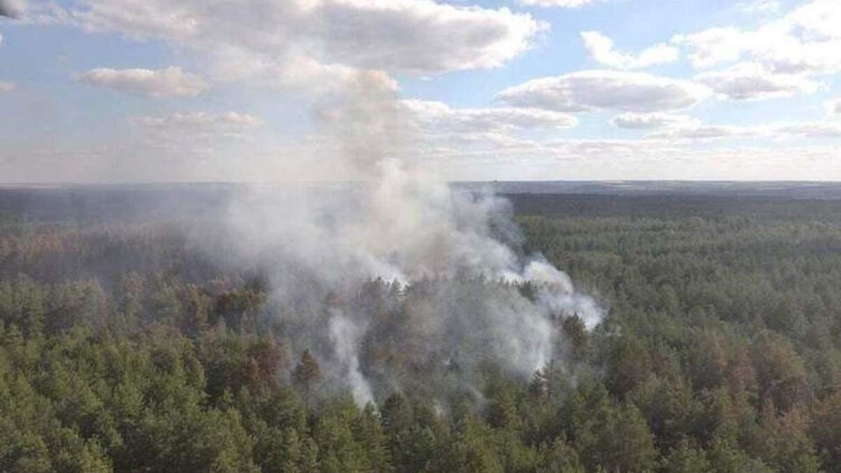 На Луганщині загасили пожежу після обстрілу: фото, відео