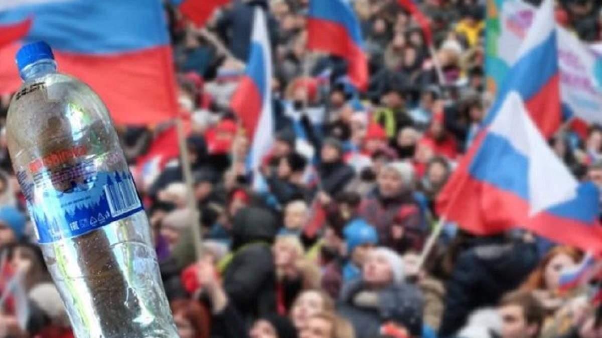 В окупованому Криму мінералку маскують під українські бренди: фото фальсифікату