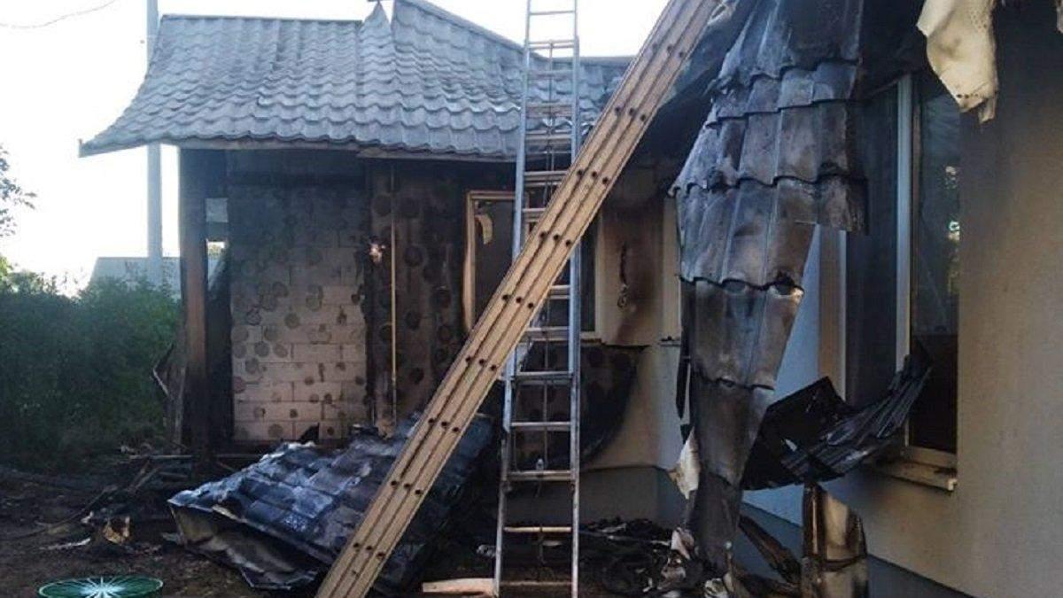Дом Шабунина после пожара