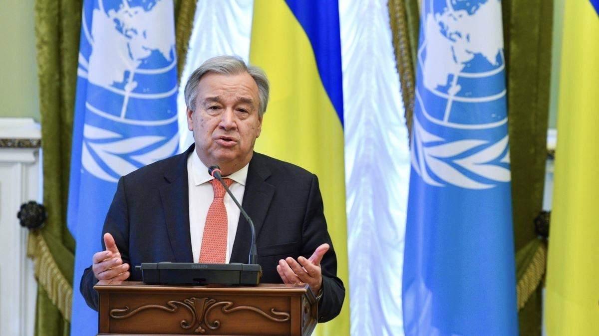 Генсек ООН призвал соблюдать договоренный режим тишины на Донбассе