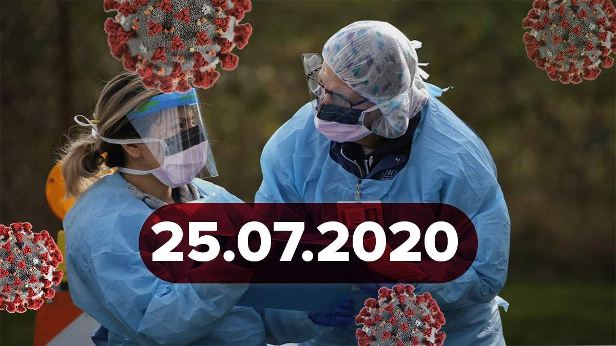 Коронавирус Украина, мир 25 июля 2020: статистика, новости