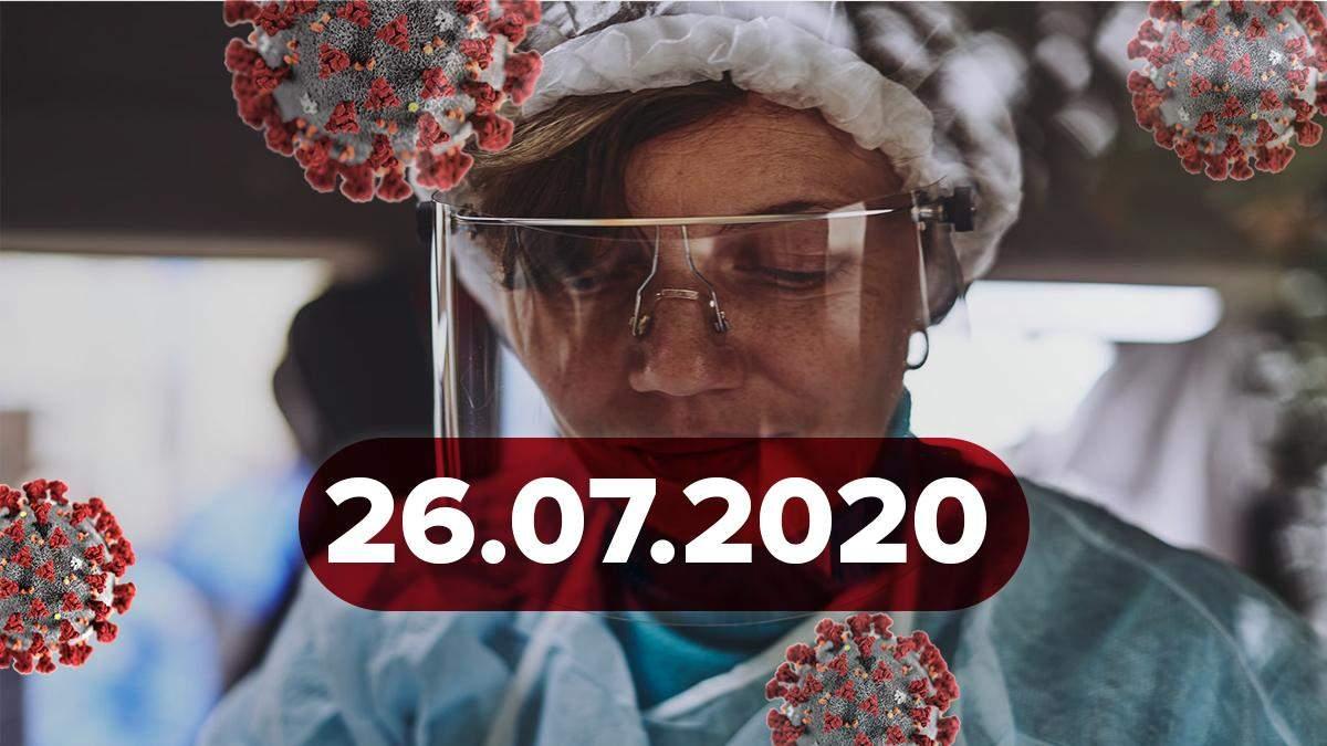 Коронавірус Україна, світ 26 липня 2020: статистика, новини