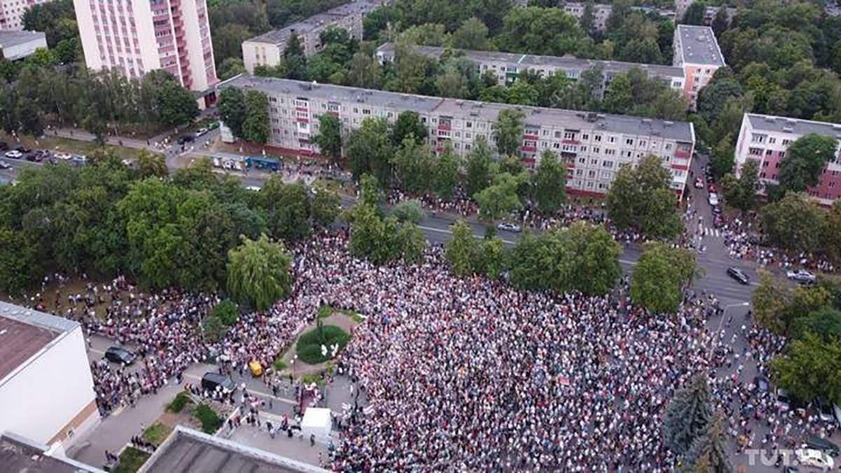 Митинг в Гомеле в поддержку Тихановской 26.07.2020: видео