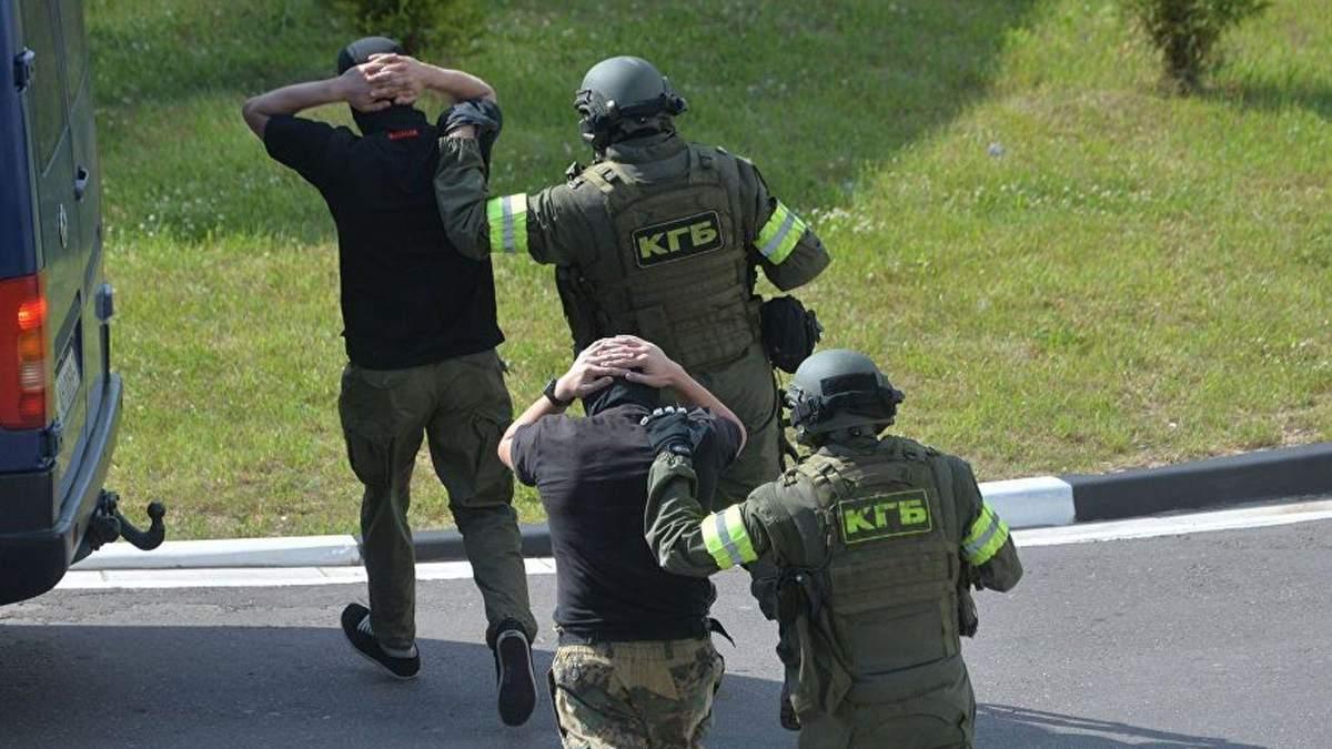 Затримання бойовиків під Мінськом