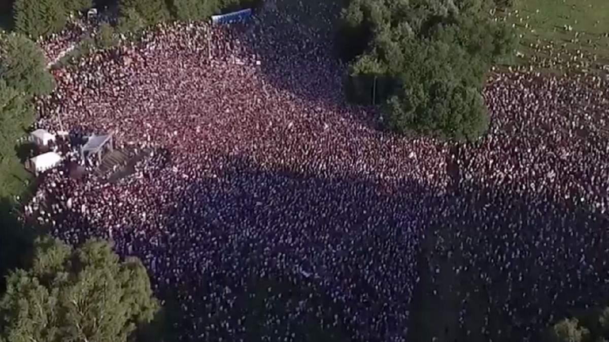 Мітинг опозиції у Мінську 30 липня 2020 року: фото і відео